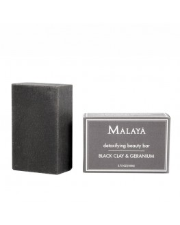 Malaya Organics - Black Clay & Geranium Beauty Bar